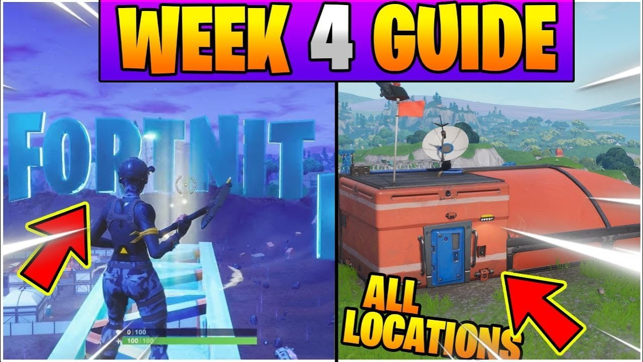 Fortnite Week 4 Season 7 Challenges Guide All Letter Locations L