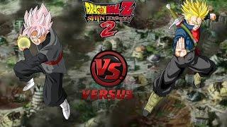 Truncks Ssj (súper) vs  black Goku Ssj Rose / dragón ball Shin budokai 2