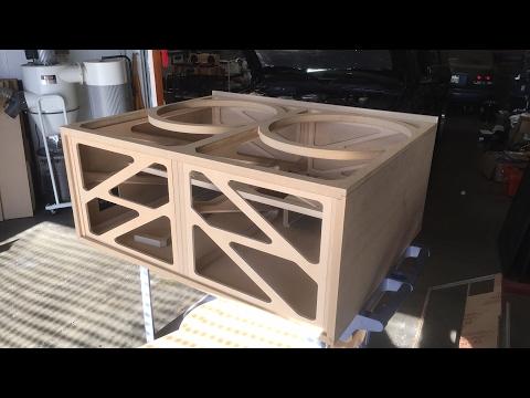 Live at SMD HQ - Skelator Speaker Box Clear Acrylic Baffle CNC Cut - shop work flow vlog #3
