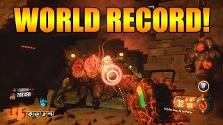 [WORLD RECORD] COD BO3 Zombies Shadows of Evil 115 Rounds Coop Gameplay