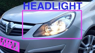 How To Remove Passenger Side HEADLIGHT on Vauxhall Corsa D 2008 | OFF SIDE