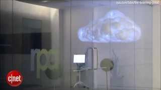 LED cloud sculpture storms