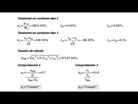 [TUTORIAL] Soldaduras: Cálculo manual y con CYPE 3D  (Ejercicio Soldadura).