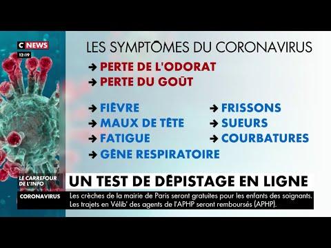 Coronavirus: un test de dépistage en ligne