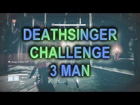 390 Crota Deathsinger Challenge! 3 Manned!