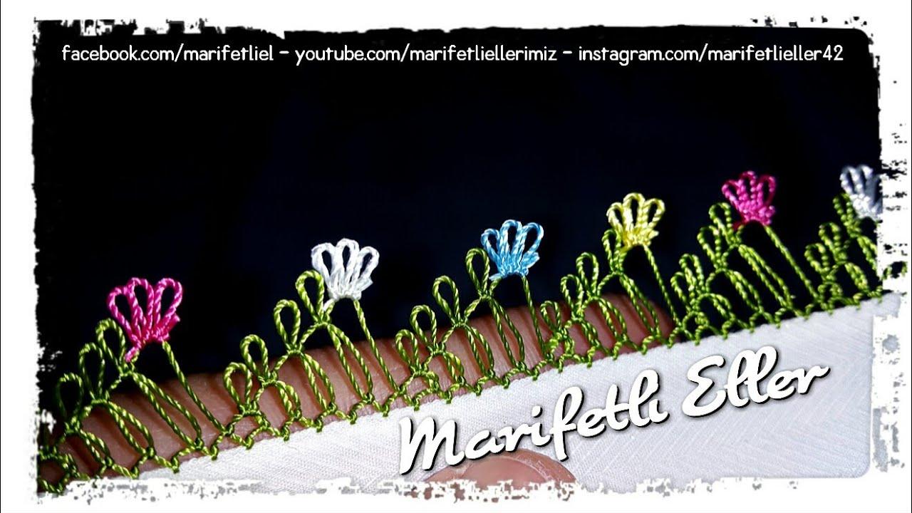 İğne Oyası Bitişik Çiçekler Modeli Yapılışı Anlatımlı Videolu