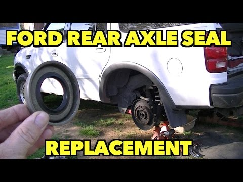Ford Rear Axle Seals Replacement...AND Bearing Check.