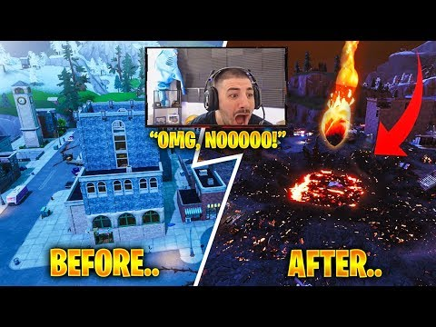 NICKMERCS Reacts to Tilted Towers being DESTROYED! Feat. Sypher PK