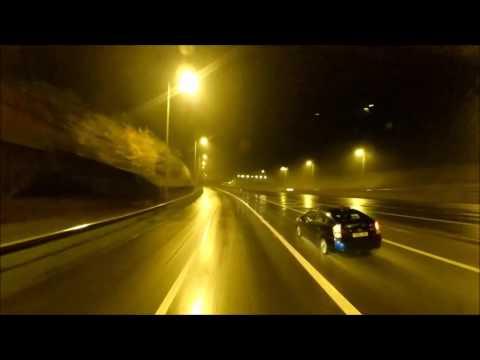 Z89 Travel : London at Night, M25, Amazon Weybridge