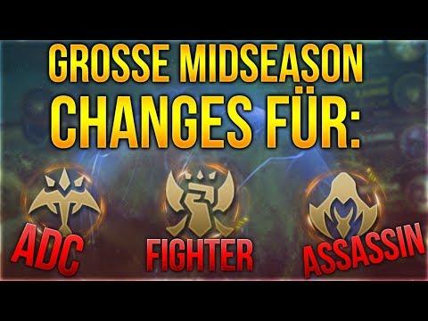 Große Midseason Changes für: Adc, Fighter und Assasins [League of Legends] [Deutsch / German]