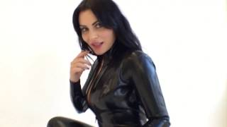 Girl in latex catsuit