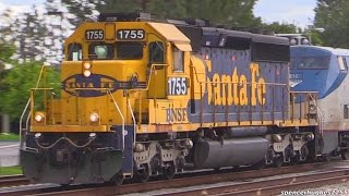 RARE SD40-2 rescues Amtrak Southwest Chief + OTHERS !!! (March 1st/Feb. 2015)