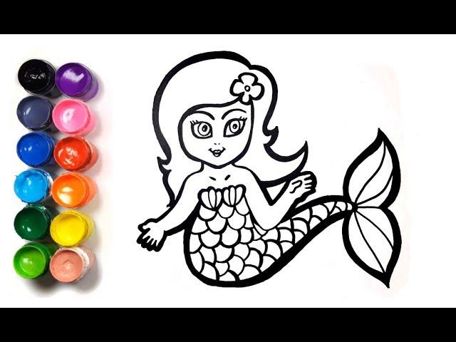 Mewarnai Gambar Little Mermaid Putri Duyung Menggambar Dan Mewarnai Untuk Anak Anak Youtube