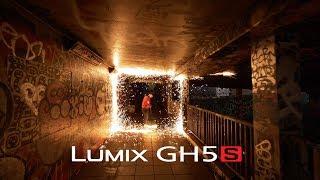 Panasonic Lumix GH5S Low Light Steel Wool Spinning 4K 50p