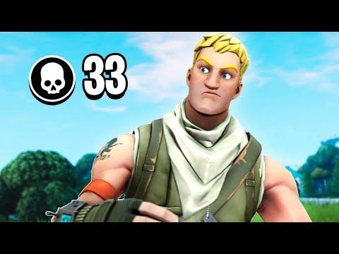 33 Kill Win! (My New Personal Solo VS Squads Record!)