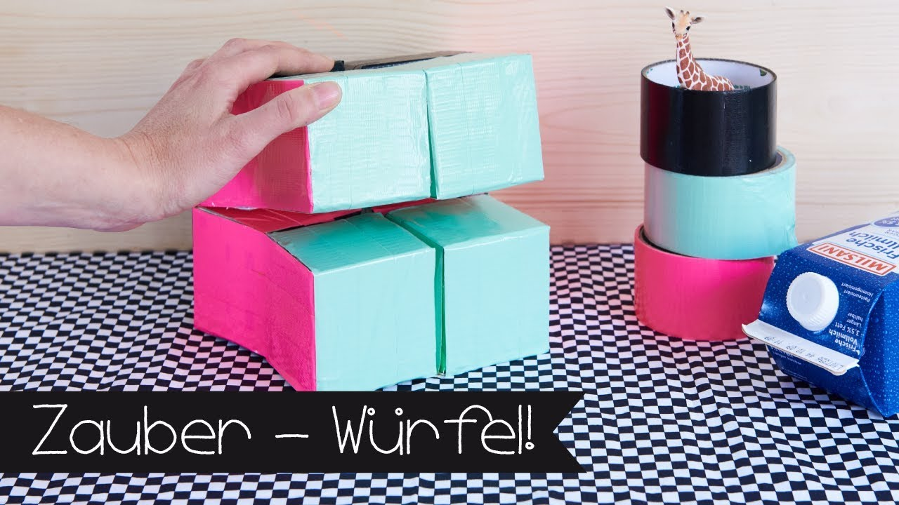 zauberw rfel selber basteln i diy i kinder i upcycling i basteln youtube. Black Bedroom Furniture Sets. Home Design Ideas