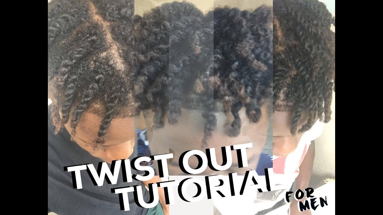 4C MENS NATURAL CURLY HAIR TWISTOUT TUTORIAL YouTube