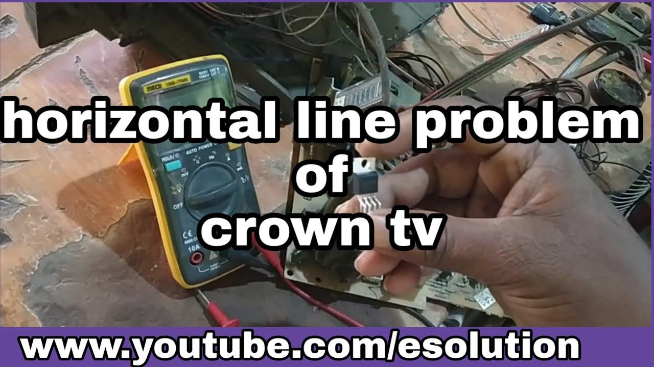 Download Horizontal line problem of crown tv