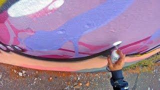 Graffiti - Rake43 - Pink Roller #2