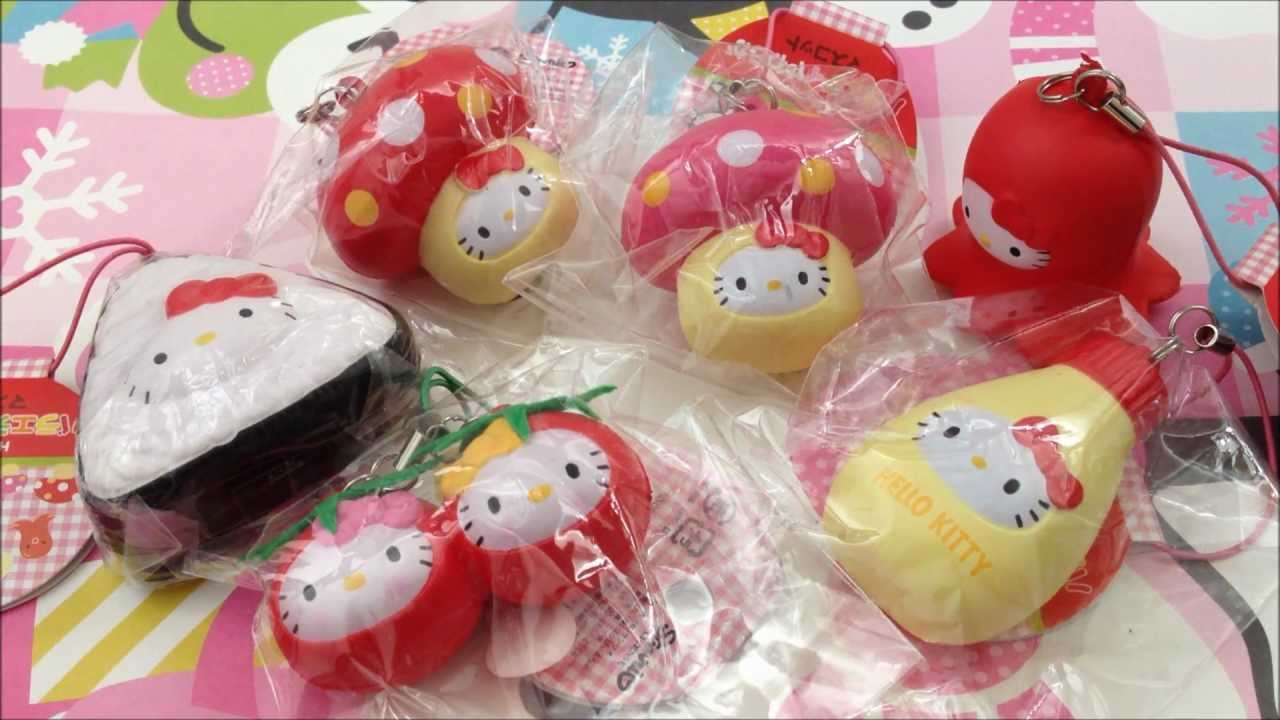 Squishy Collection Hello Kitty : Hello Kitty Squishy Lunchbox Collection! - YouTube