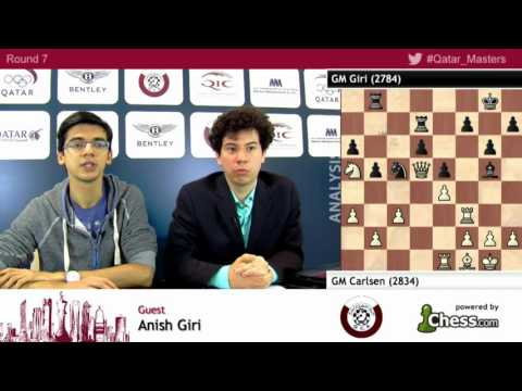 Anish Giri against Magnus Carlsen post conference analysis - Qatar Master Open 2015
