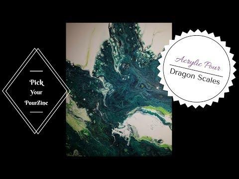 Acrylic Pour Dragon Scales