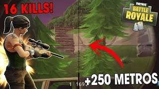 +250 METROS CON EL SNIPER, 16 KILLS WIN! - Fortnite Battle Royale Gameplay - Kod
