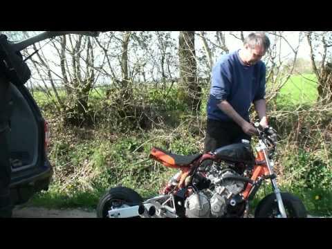 Honda Monkey With 600 Ccm First Run