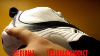 2012 Reebok Allen Iverson Answer 4 White/ Black Sneakers W/ @DjDelz Plus On Feet