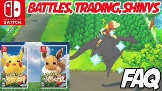 Pokemon: Let's Go Pikachu! & Eevee FAQ - Trading, Battles, Shiny Pokemon and More!