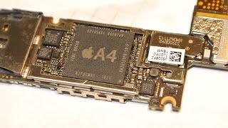 Iphone 4 неработает микрофон - ребол аудио кодека(В данном видео показан процесс решения проблемы с микрофоном на iphone 4 путем перепайки микросхемы U62 aud10-c0..., 2014-11-09T22:45:07.000Z)