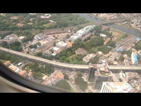 Spicejet landing at Chennai airport