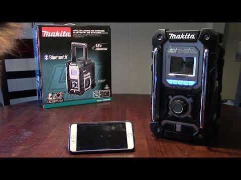 Second Nature * Makita 18v Bluetooth and MP3 Compatible Job Site Radio Review * XRM04B