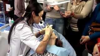 Школа перманентного макияжа МайСтайл проводит мастер-класс на выставке Интершарм-2014(Фрагмент мастер-класса