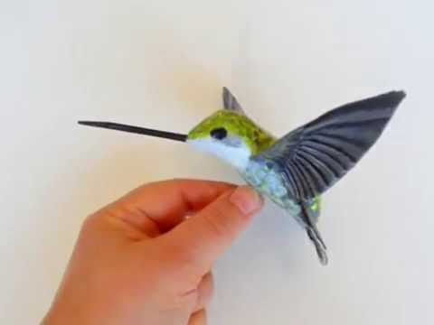 Hummingbird Designer Paper Mache Bird Sculpture Youtube