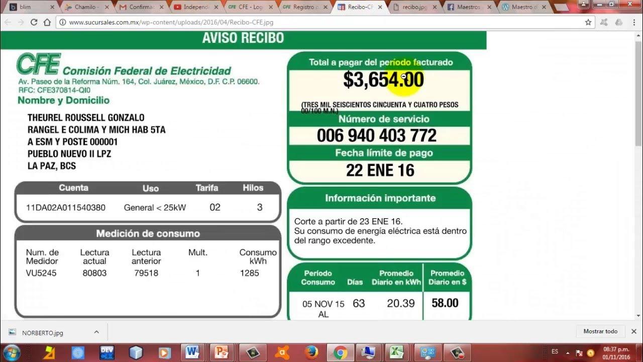 MIRA COMO TE ROBA LA CFE  COMISION FEDERAL DE ELECTRICIDAD EN TUS RECIBOS