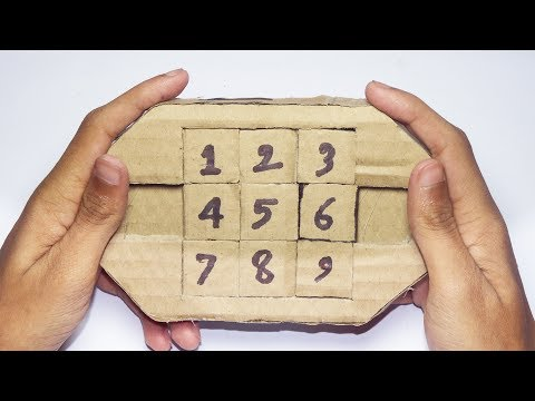 How To Make Easy Puzzle From Cardboard