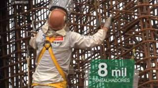 UHE Santo Antônio - Campanha Juntos Estamos Construindo. Tema Emprego.