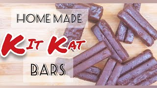 How to make kit kat chocolates at home |  Easy 3 ingredient recipe |  handmade kit kats.