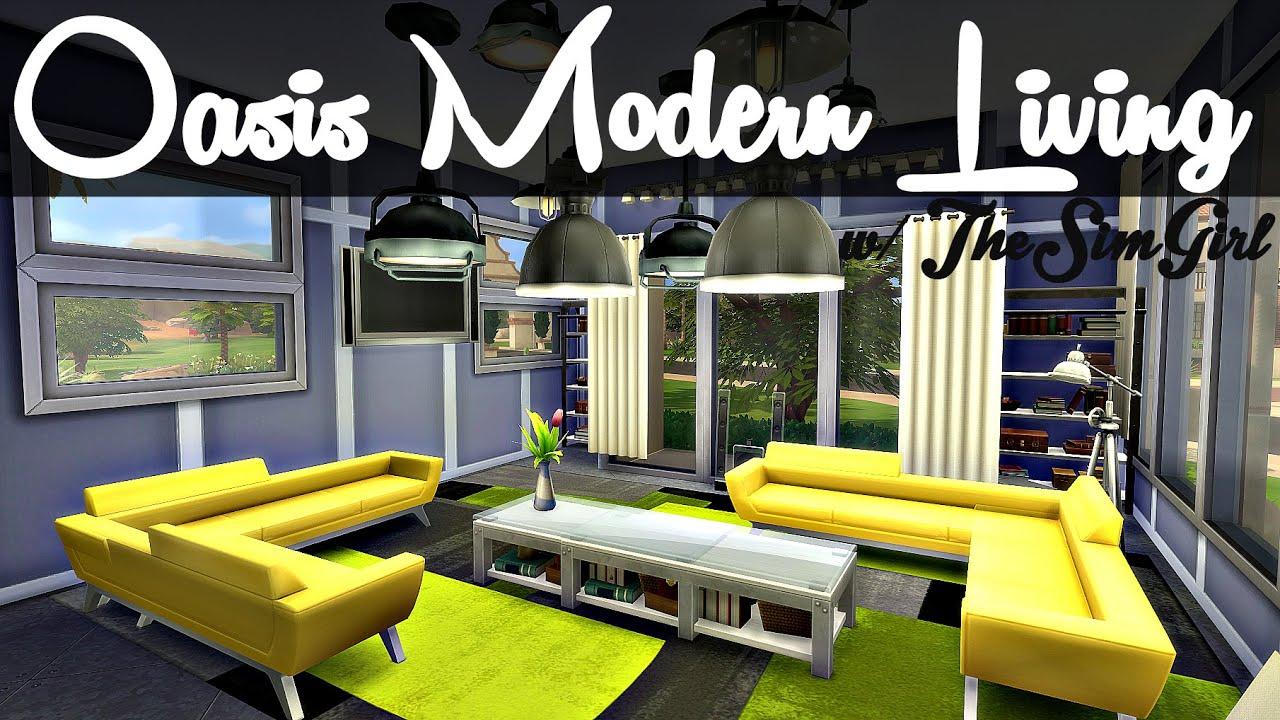 Sims 4 interior design oasis modern living w for Sim interior designs