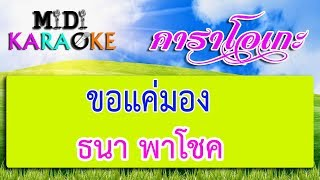 ขอแค่มอง(รักคนชื่อต้อย) - ธนา พาโชค | MIDI KARAOKE มิดี้ คาราโอเกะ