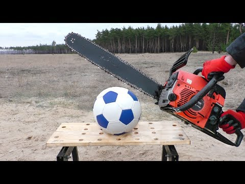 EXPERIMENT: CHAINSAW VS SOCCER BALL