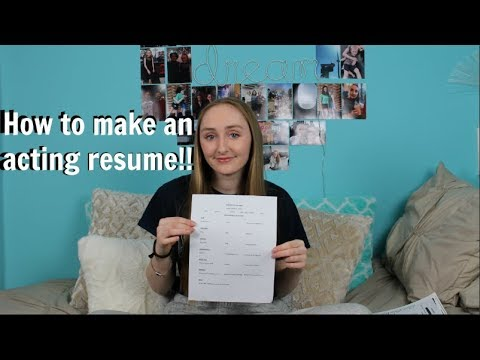 How To Make An Acting Resume!! With And Without Experience