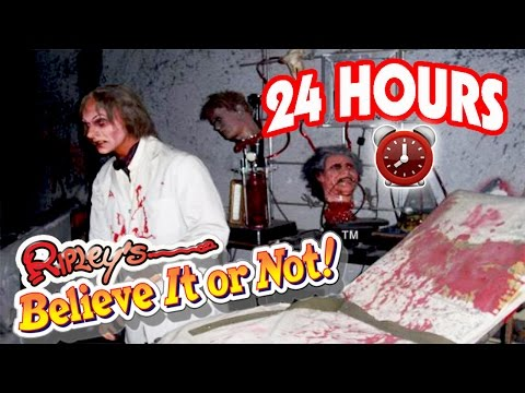 24 HOUR OVERNIGHT AT RIPLEY'S BELIEVE IT OR NOT | OVERNIGHT CHALLENGE AT RIPLEY'S BELIEVE IT OR NOT!