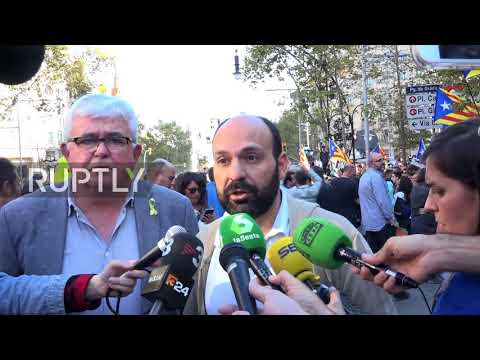 Spain: Thousands demand Catalan independence leaders' freedom in Barcelona