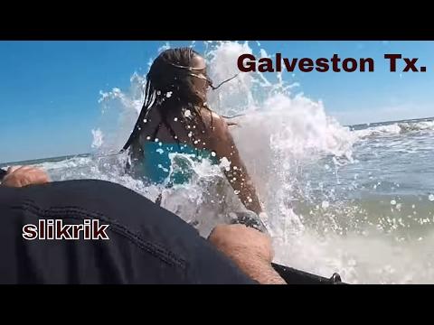 Kayaking surf/Galveston Texas/ Lost footage kayak fishing Texas City Dike