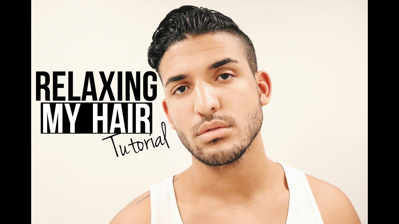 RELAXING MY HAIR  HAIR TUTORIAL FOR MEN  DemTheCeleb