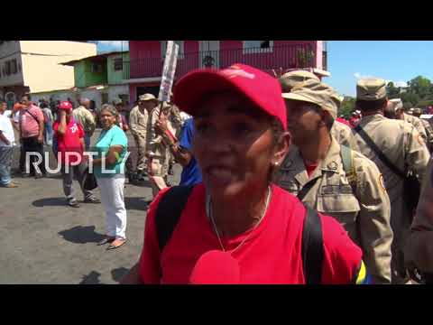 Venezuela: Chavistas hold march to commemorate former leader Hugo Chavez