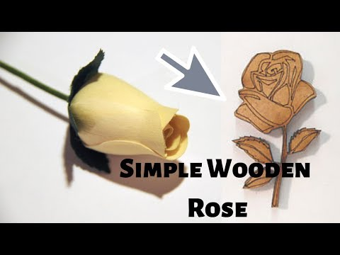 Simple Wooden Rose Made For Womens Days Using Wood Shavings