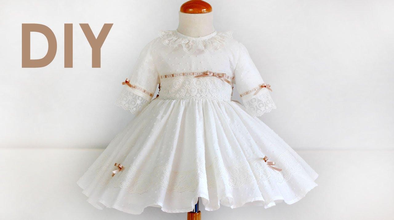 Como hacer un vestido de ceremonia. Costura ropa de niña. - YouTube